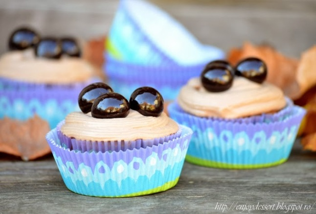 Cupcakes cu nutella - Briose cu nutella