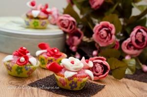 Cupcakes cu ciocolata si buttercream