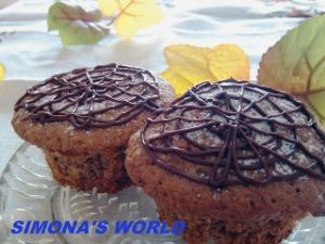 Muffins cu capuccino, nuca si scortisoara